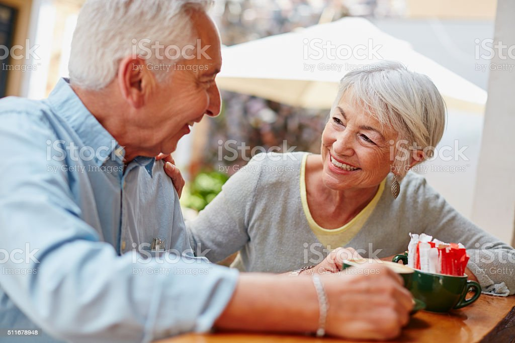 Retirement gave them more time to enjoy each other's company stock photo