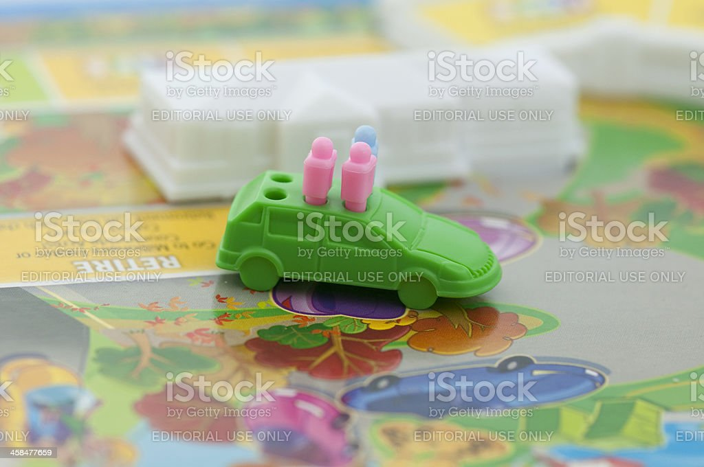 Retirement in the game of LIFE royalty-free stock photo