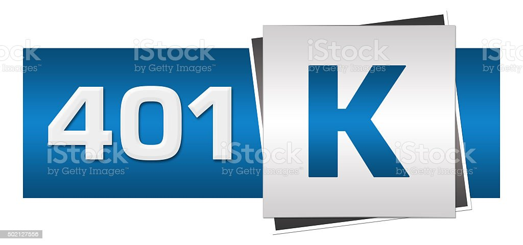 Retirement Investment 401k Blue Grey Horizontal stock photo