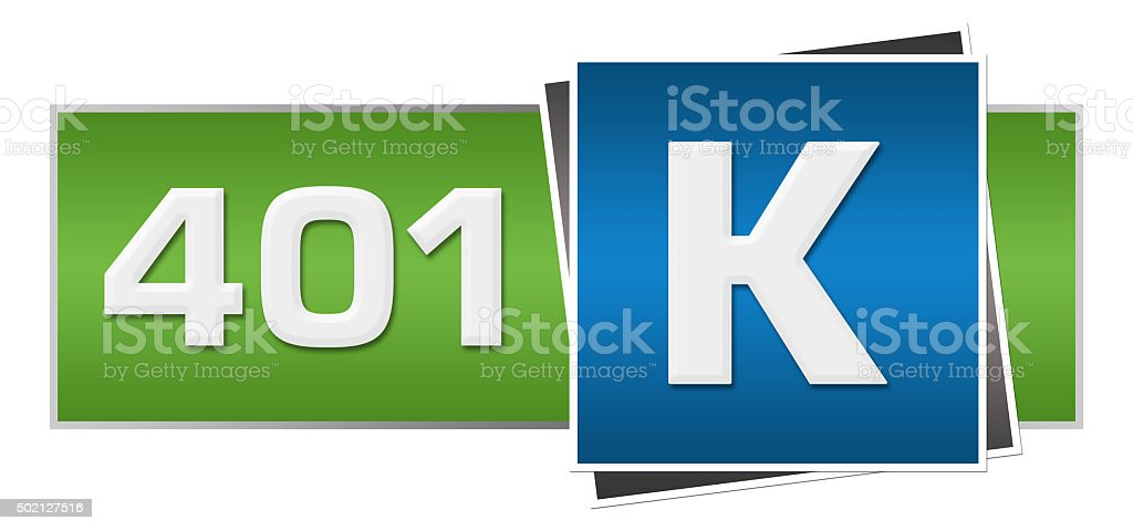 Retirement Investment 401k Green Blue Horizontal stock photo