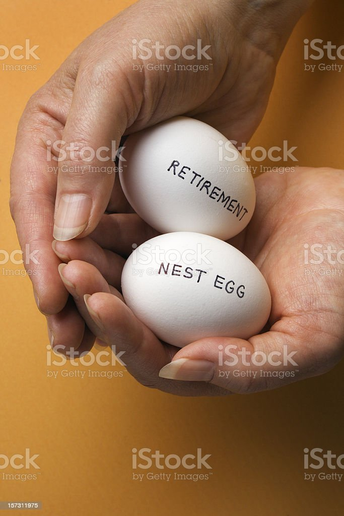 Retirement Investment, Nest Egg Pension Financial Planning and Protection royalty-free stock photo