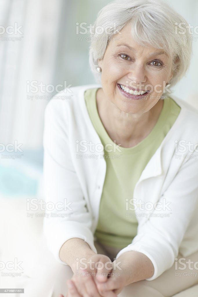 Retirement is bliss thanks to her financial planning stock photo