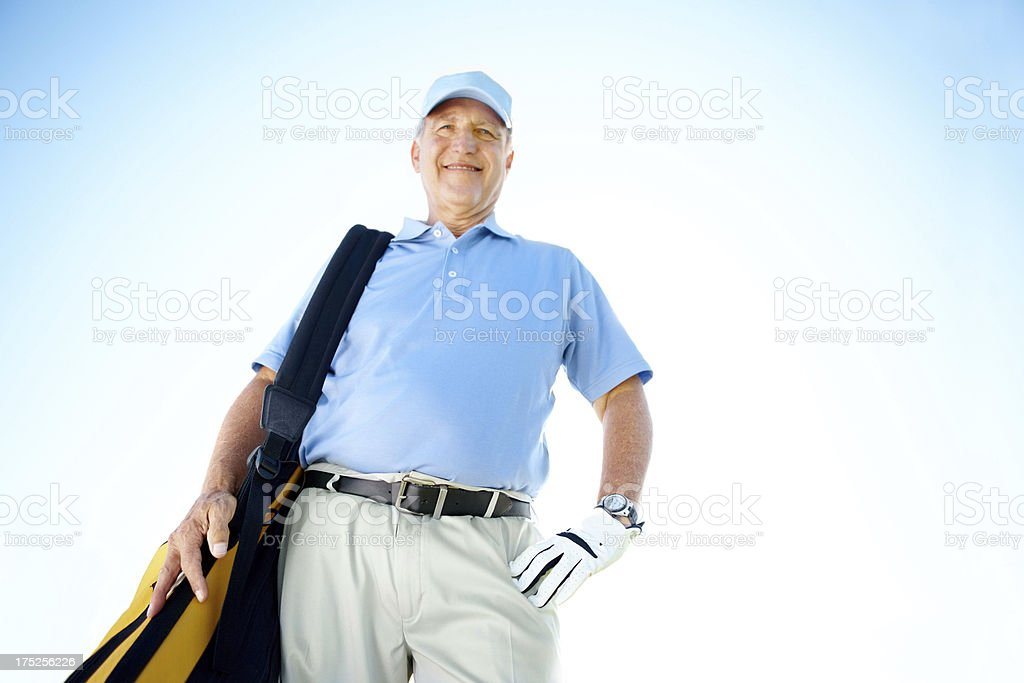 Retirement means that I can play anytime!-copyspace royalty-free stock photo