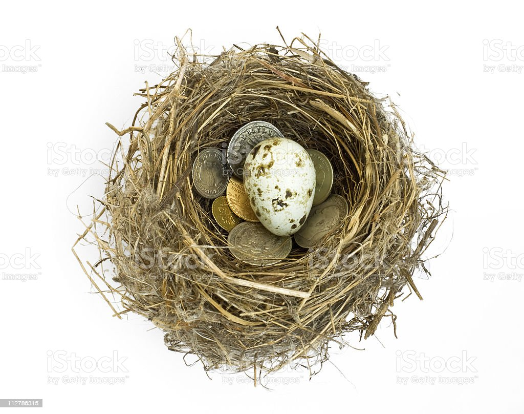 Retirement Nest Egg royalty-free stock photo