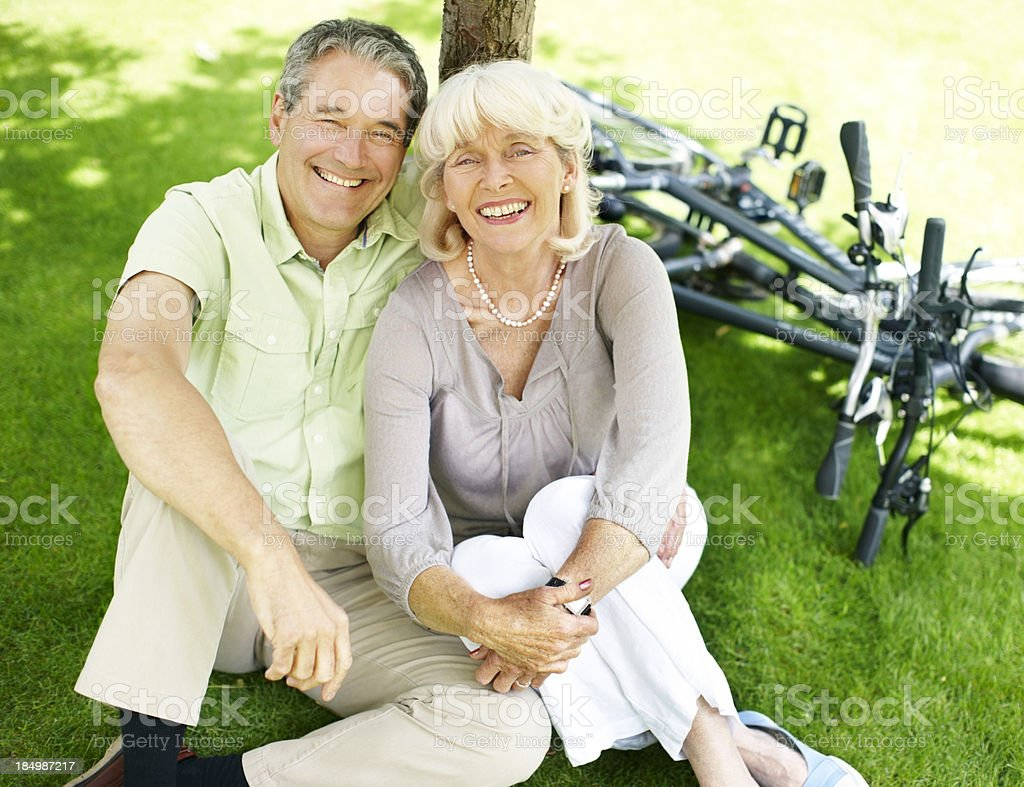 Retirement never felt better royalty-free stock photo