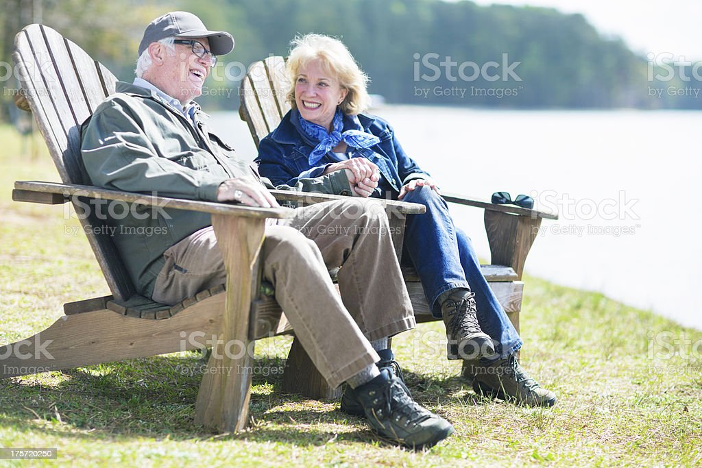 Retirement next to the lake royalty-free stock photo