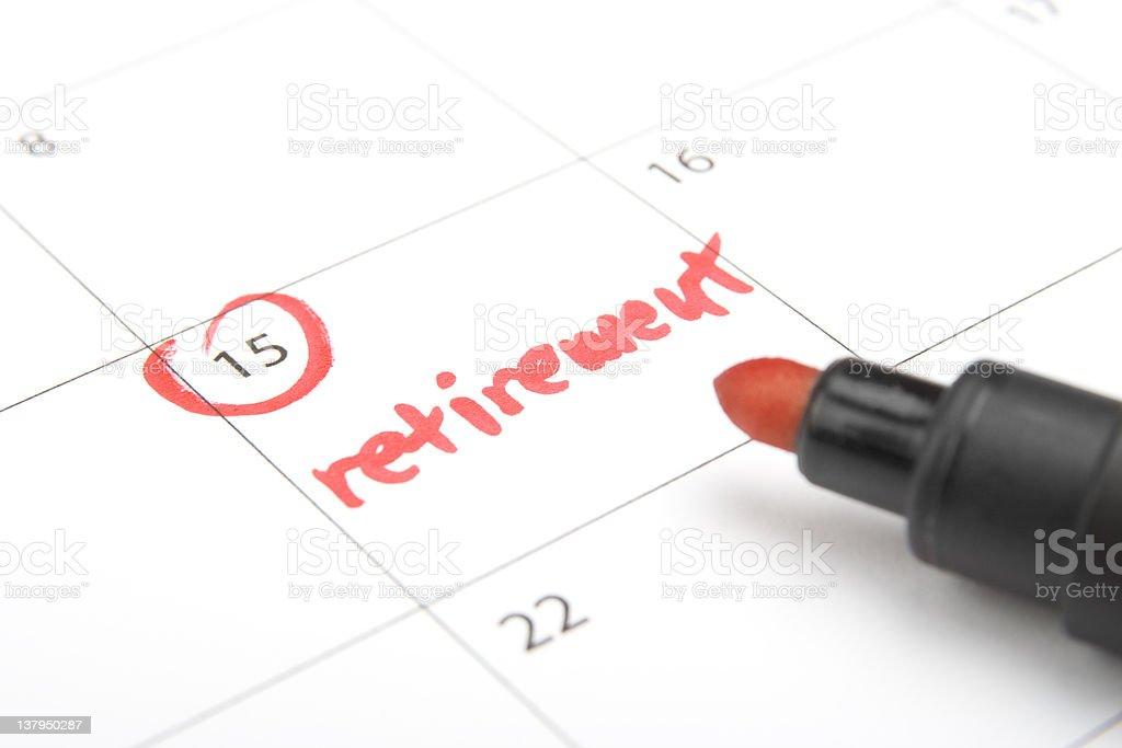 Retirement royalty-free stock photo