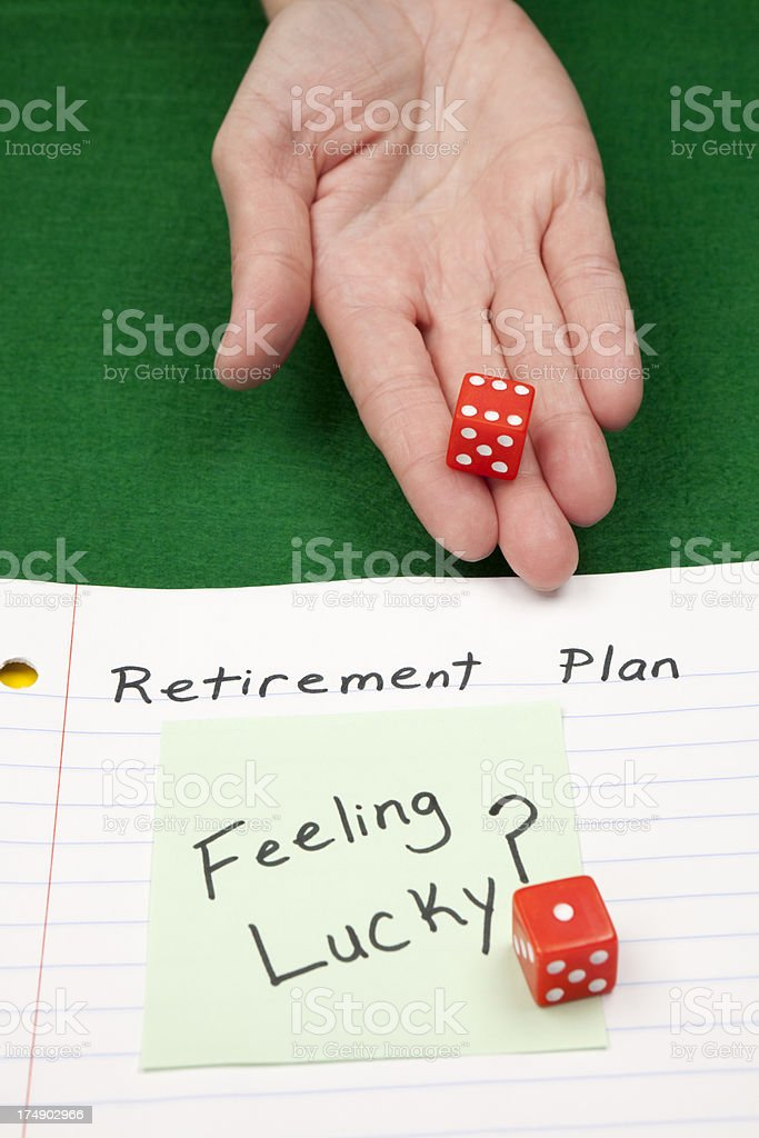 Retirement Plan and Risk concept royalty-free stock photo