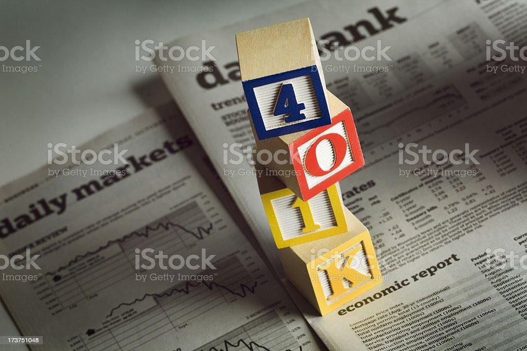 401(k) Retirement Plan Hz royalty-free stock photo