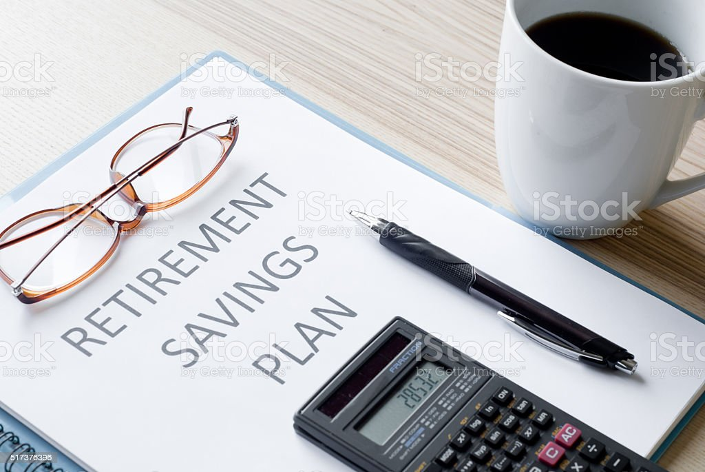 retirement plan royalty-free stock photo
