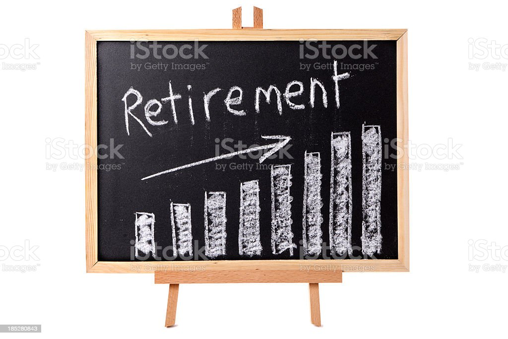 Retirement planning royalty-free stock photo