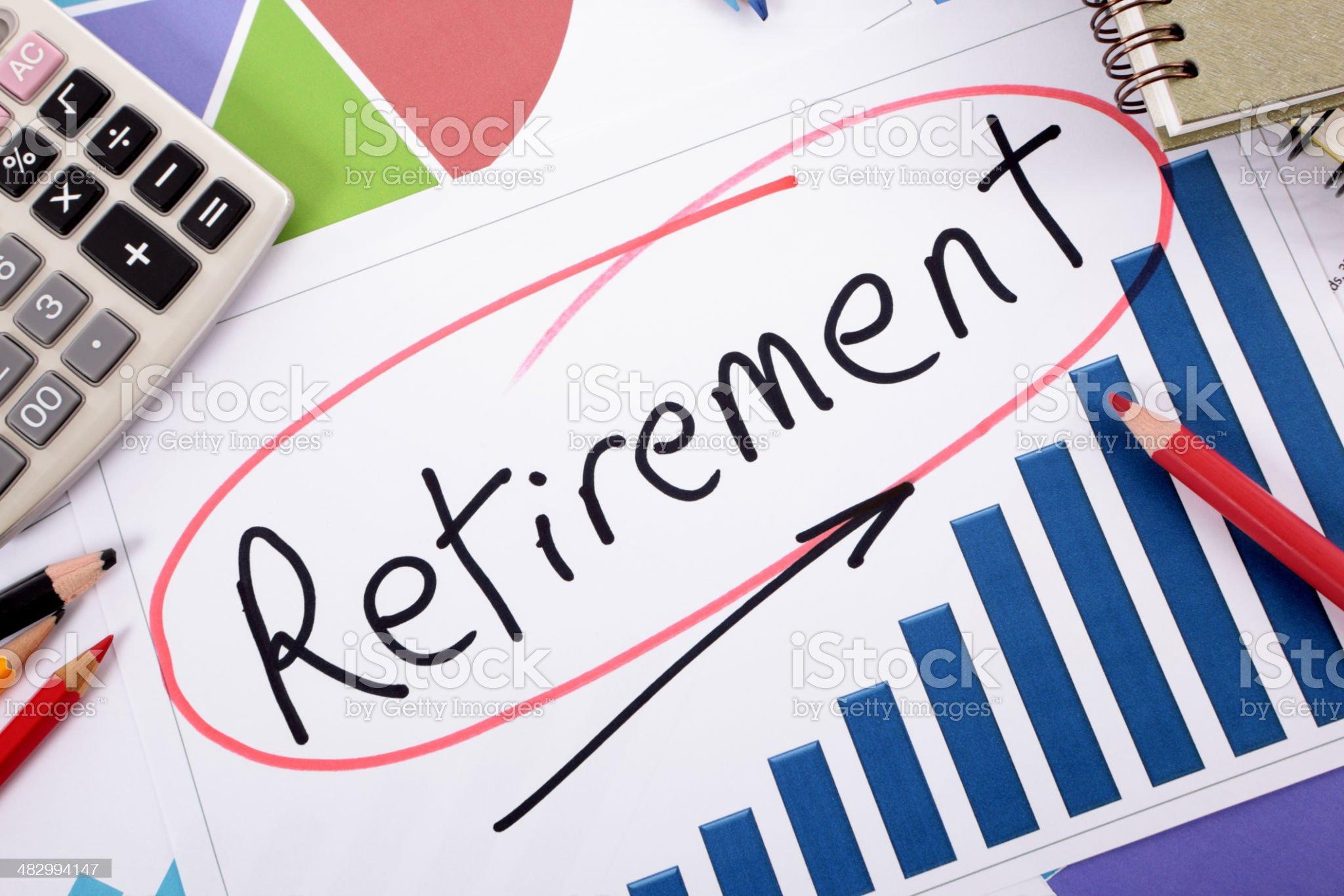 Retirement planning royalty-free stock photo