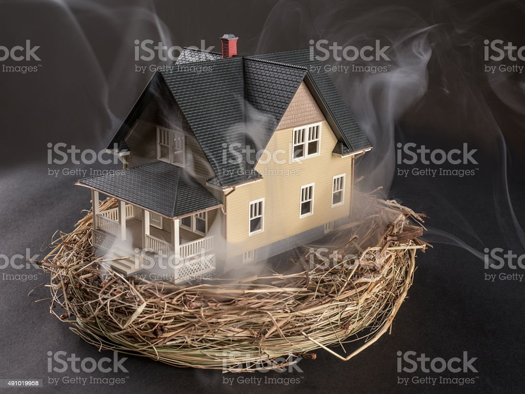Retirement Plans Up in Smoke stock photo