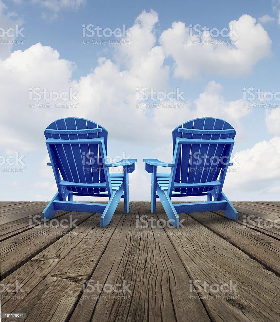 Retirement Relaxation stock photo