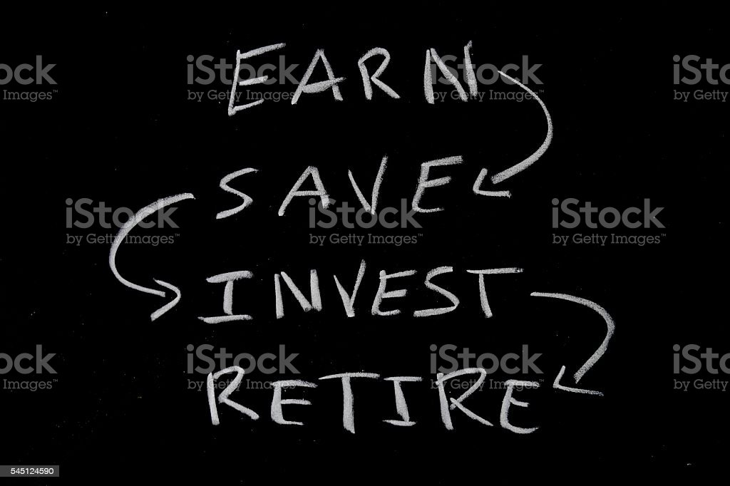 retirement saving concept stock photo