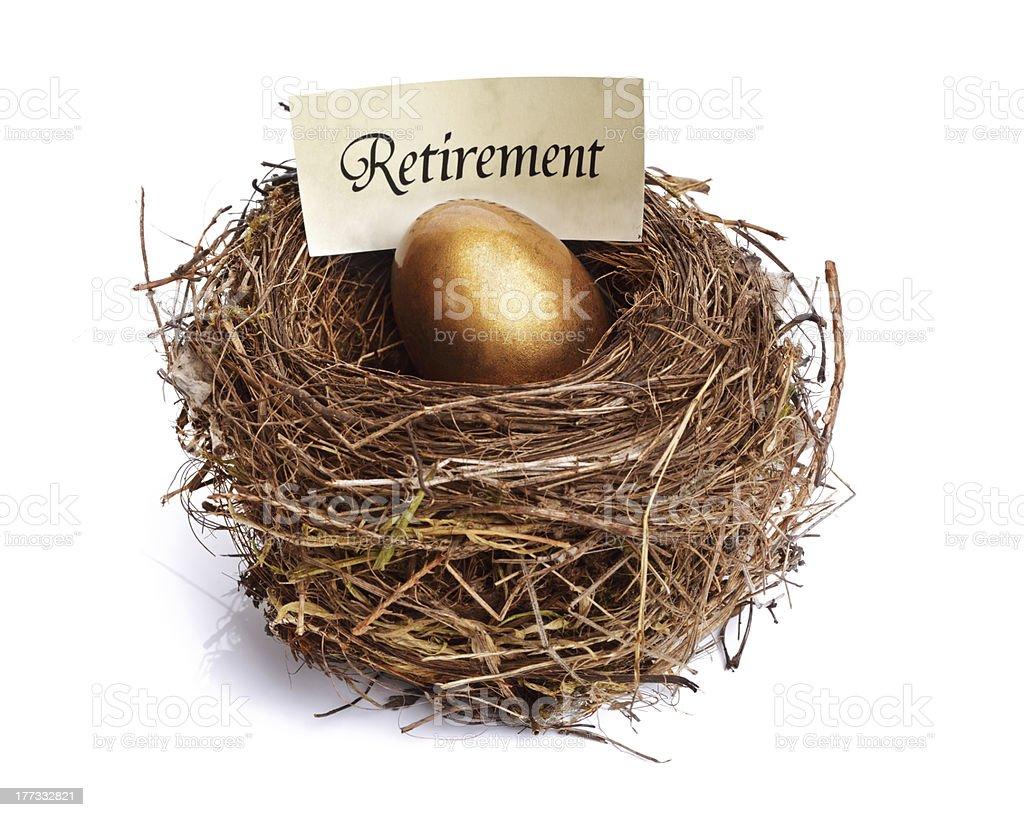 Retirement savings golden nest egg royalty-free stock photo