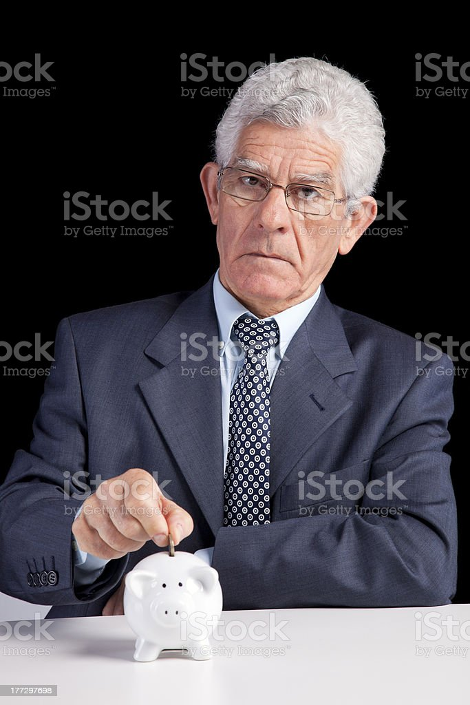 Retirement savings royalty-free stock photo
