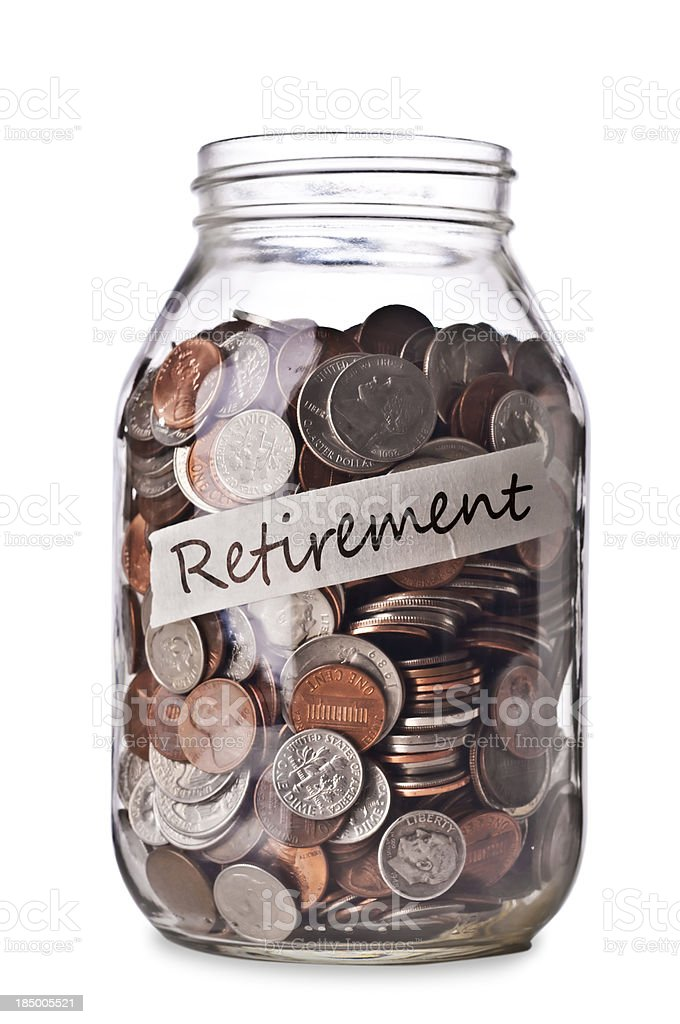 Retirement Savings royalty-free stock photo