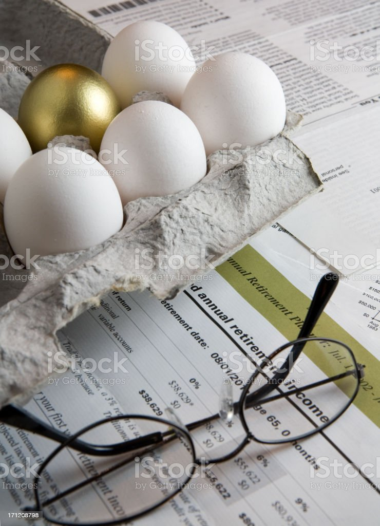 Retirement Security royalty-free stock photo