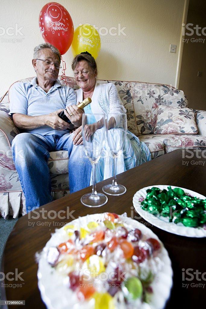 retirement: something to celebrate royalty-free stock photo