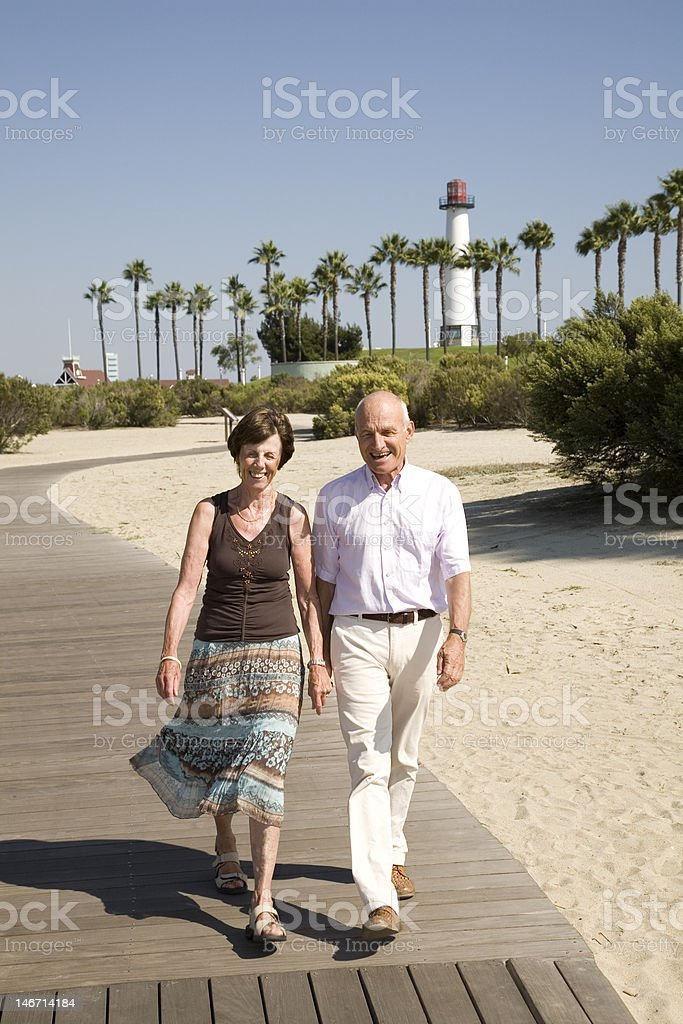 Retirement vacation at the beach. royalty-free stock photo