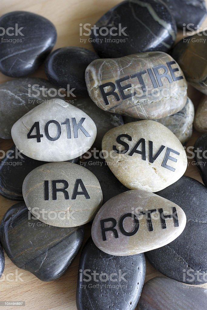Retirement Zen royalty-free stock photo