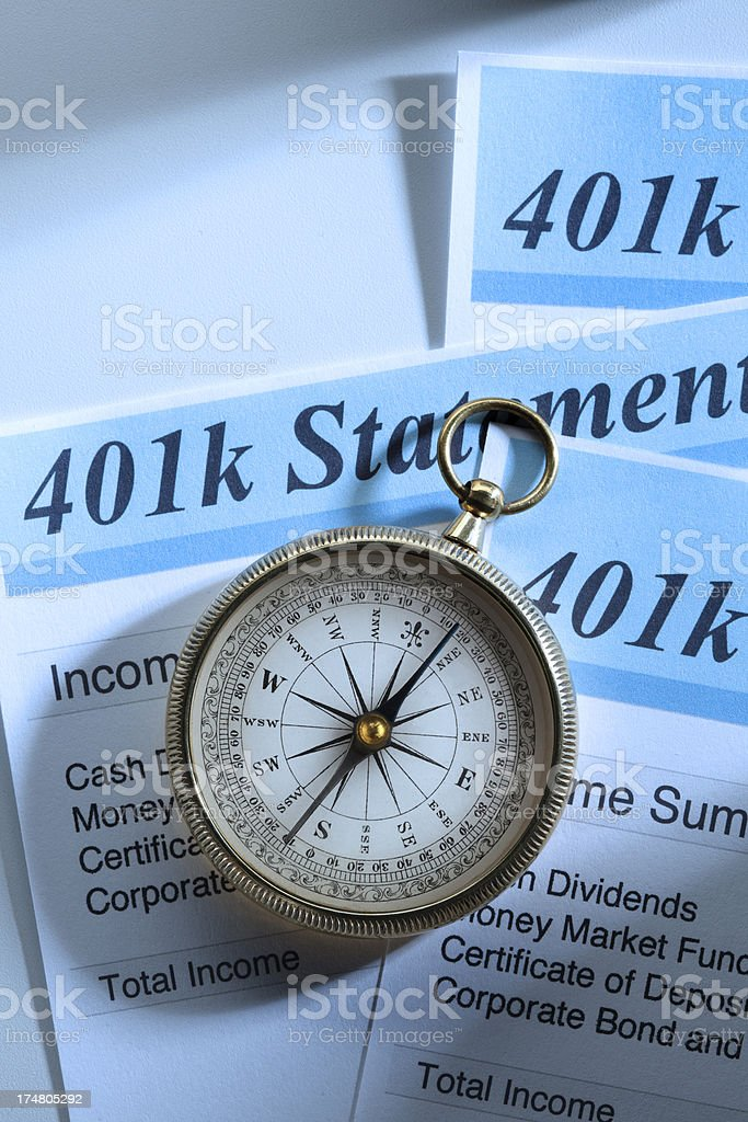 Retirerment Account Statement royalty-free stock photo