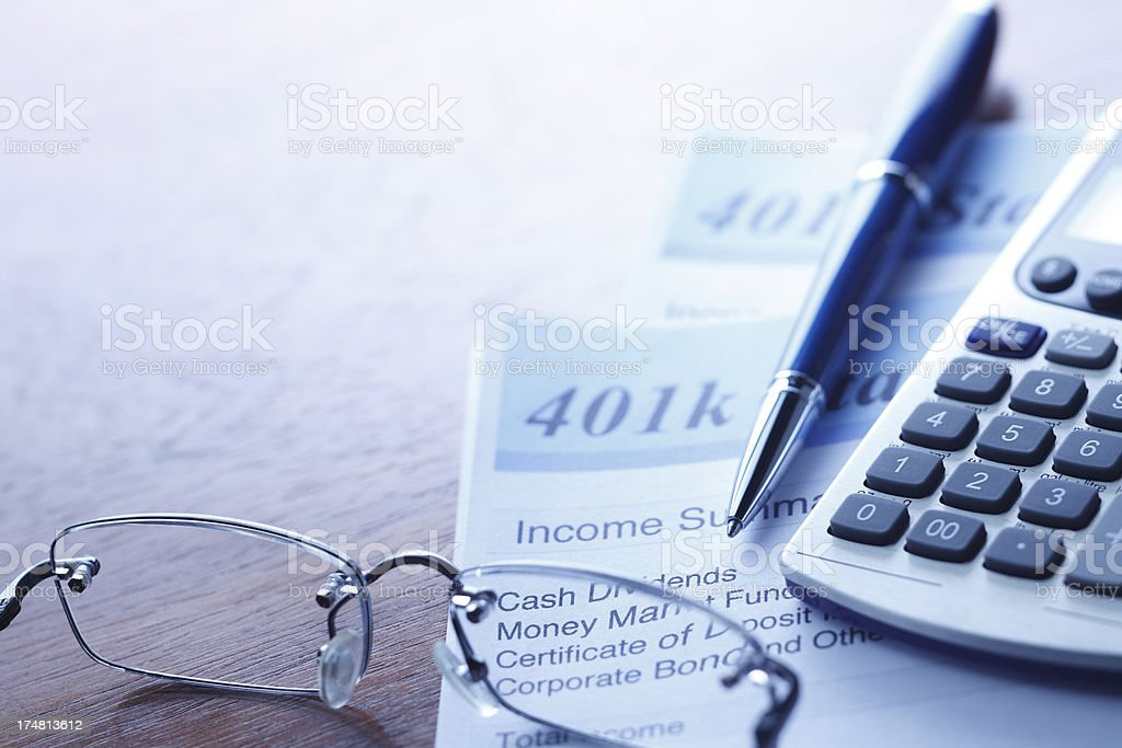Retirerment Account Statement stock photo