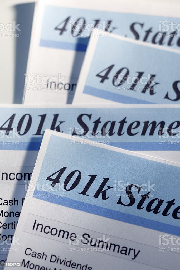 Retirerment Account Statements royalty-free stock photo