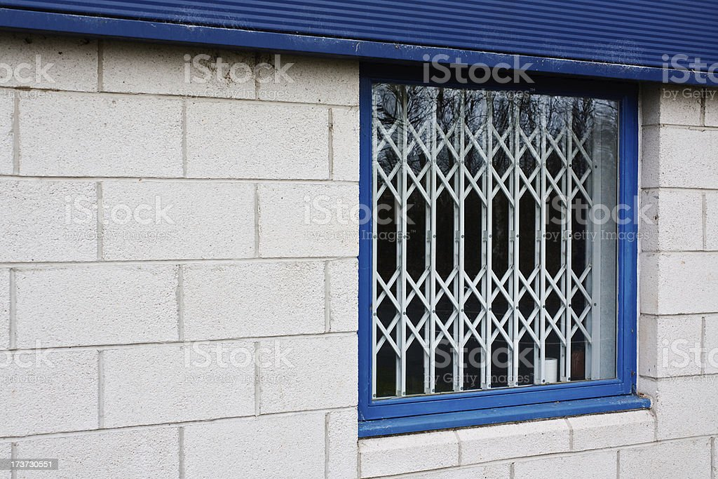 retractable window security gates stock photo