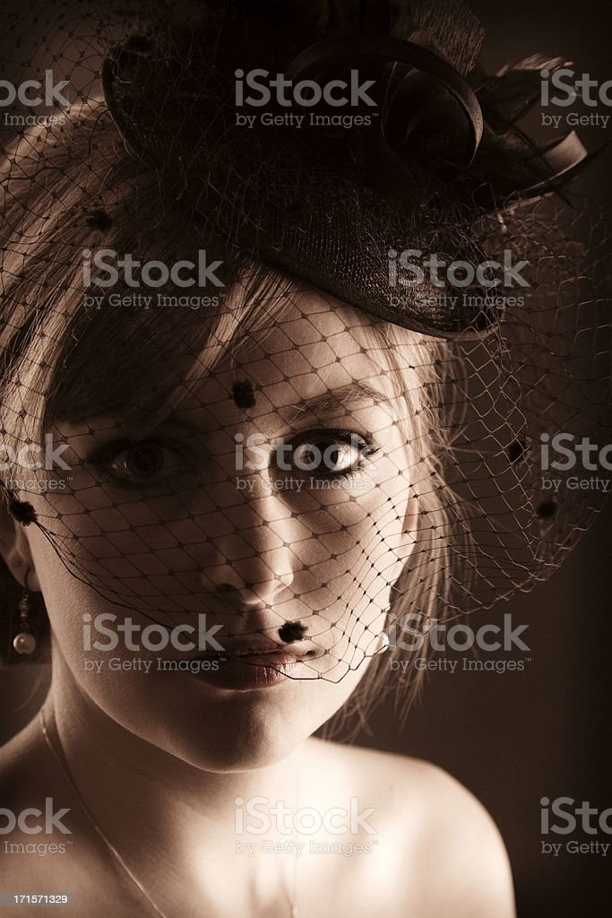 Retro 1940s Lady stock photo