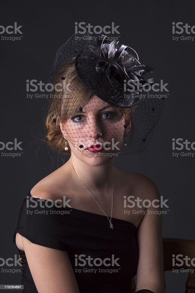 Retro 1940s Lady royalty-free stock photo
