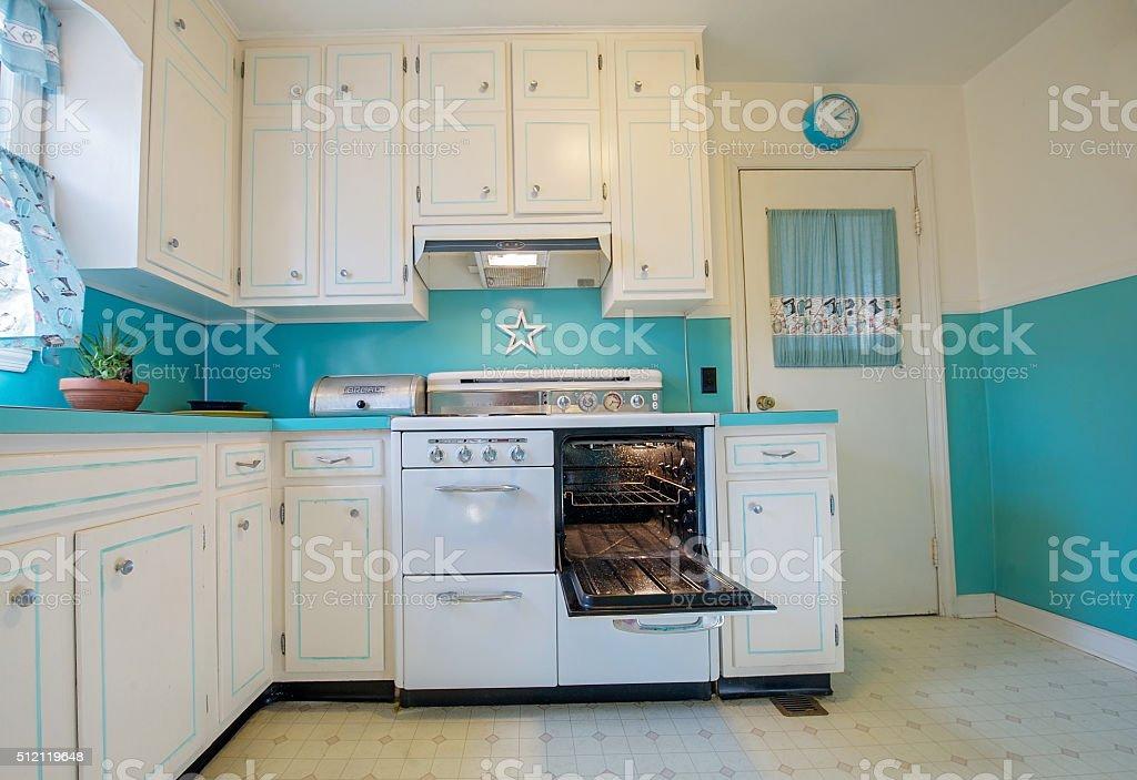 Retro 1950s Kitchen stock photo