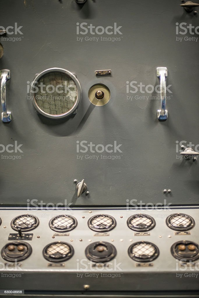 Retro 40's RAF navigation control board. stock photo
