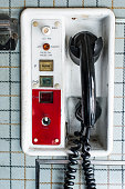 Retro 70's Aircraft Telephone communication.
