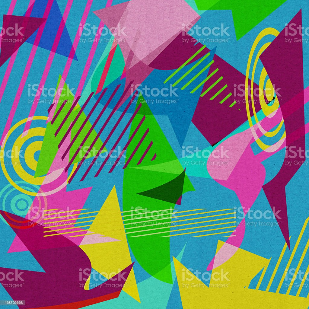Retro 80's Shapes Background stock photo