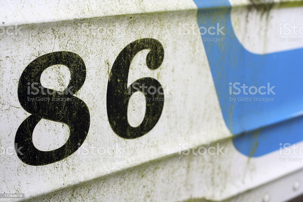 Retro 86 royalty-free stock photo
