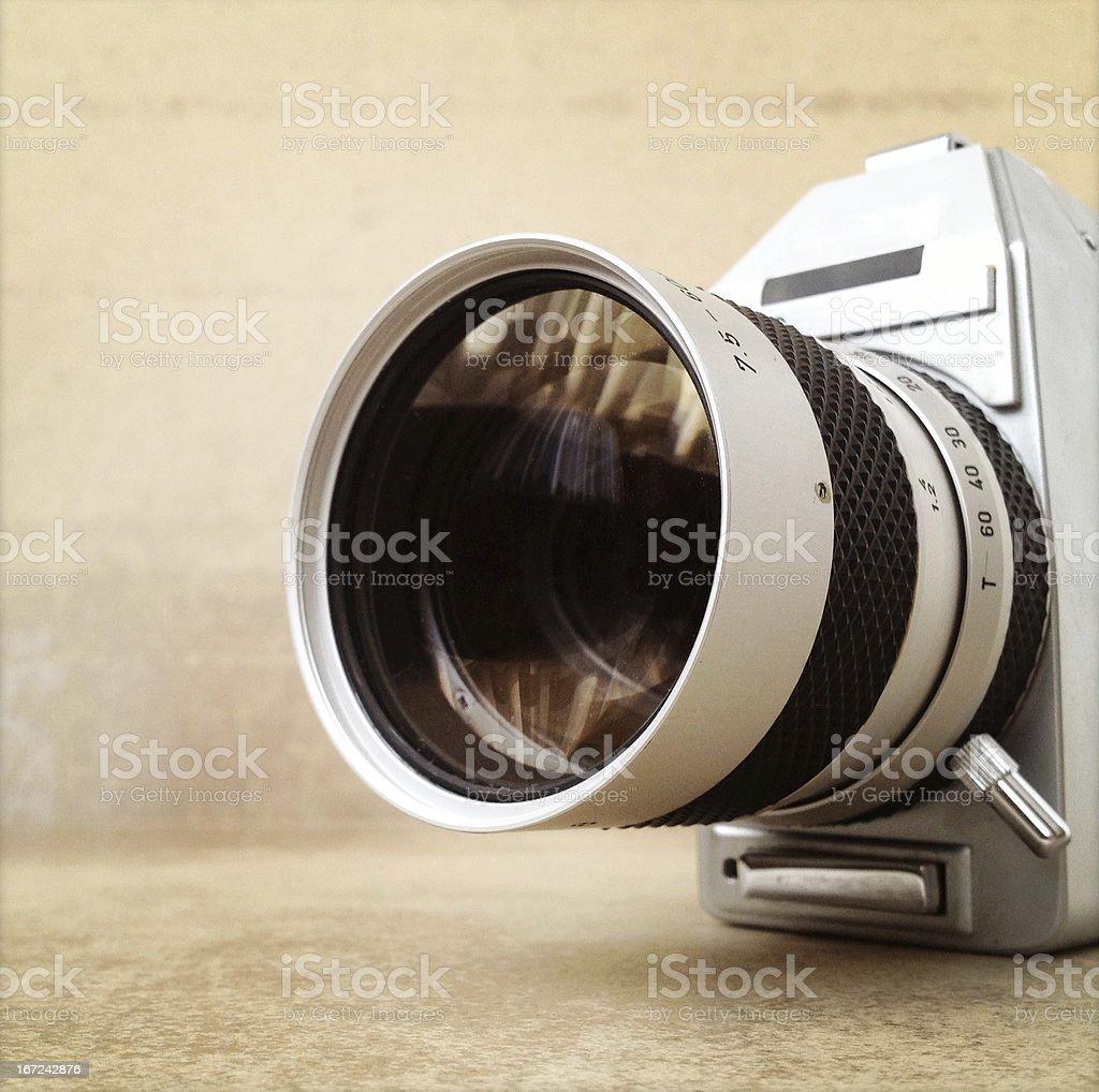 Retro 8mm Movie Camera royalty-free stock photo