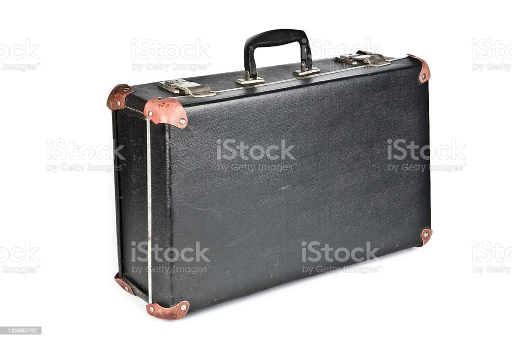 Retro a suitcase for travel stock photo
