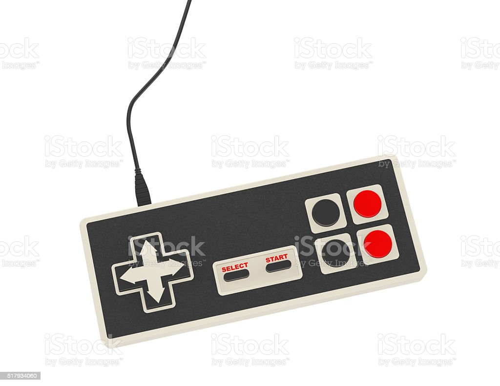 Retro Abstract Game Controller stock photo