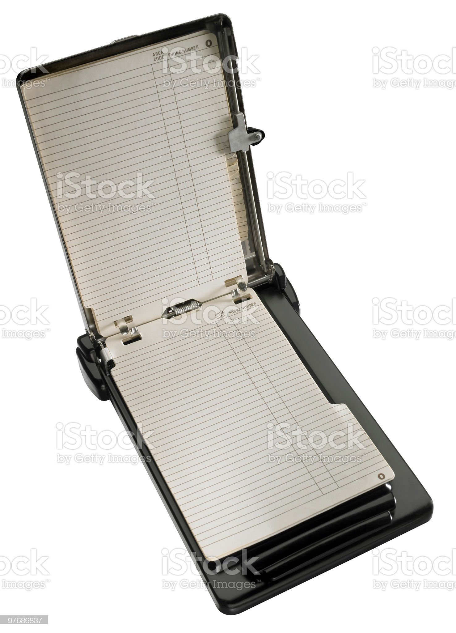 Retro Address Book royalty-free stock photo