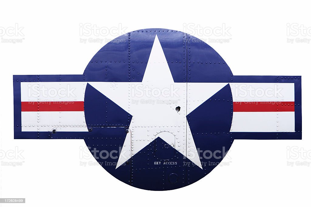 retro airforce emblem royalty-free stock photo