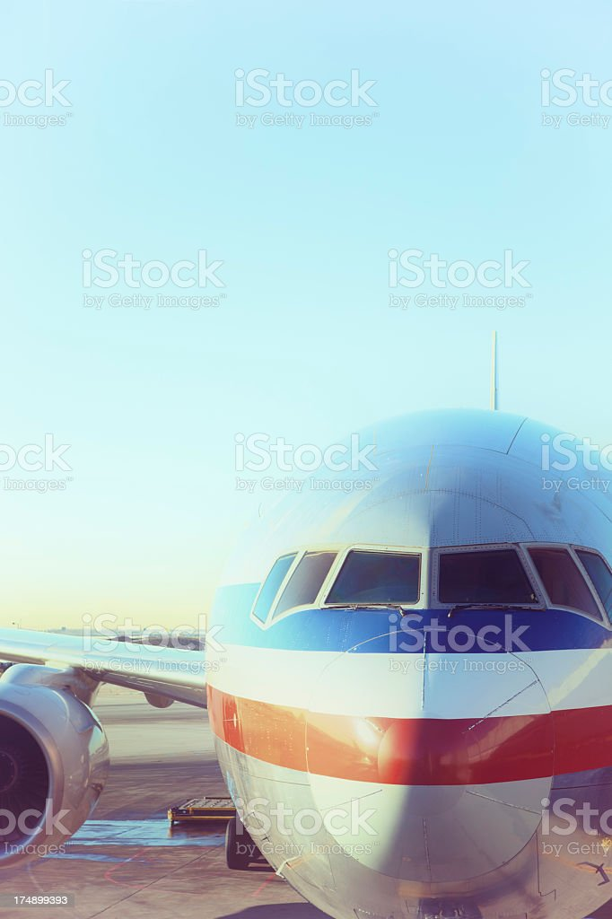 Retro airplane royalty-free stock photo