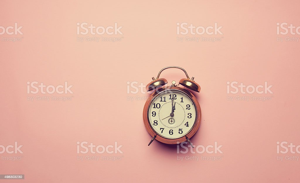 Retro alalrm clock stock photo