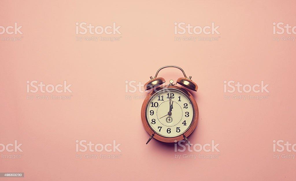 Retro alalrm clock stock photo