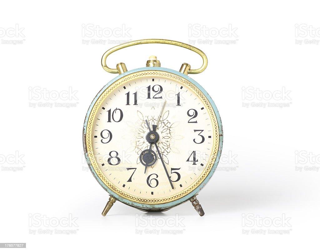 Retro alarm clock, isolated royalty-free stock photo