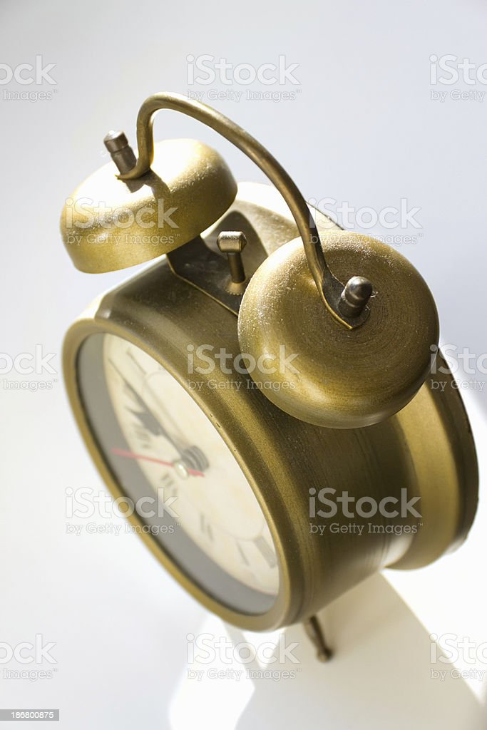 retro alarm clock royalty-free stock photo