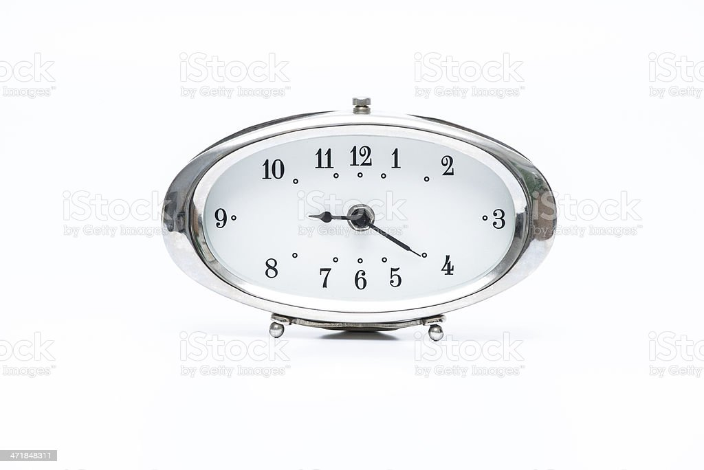 Retro alarm clock royalty-free stock photo