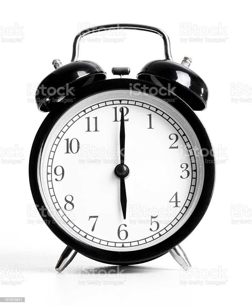 Retro Alarm Clock Series stock photo