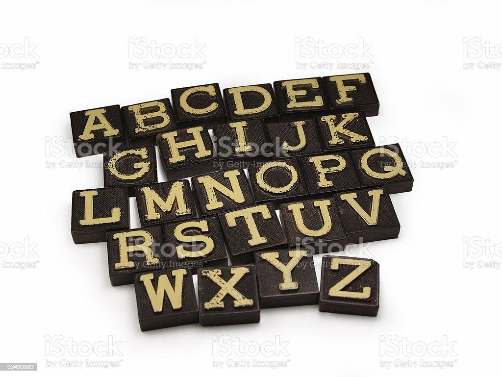 Retro Alphabet royalty-free stock photo